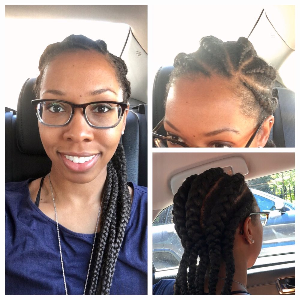 6 Cornrows With Extensions Yelp