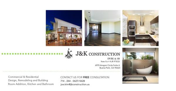 J&K Construction 6970 Aragon Cir Ste 4 Buena Park, CA