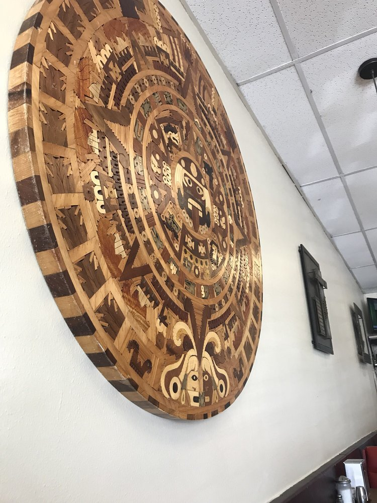 Wall Decor Wooden Aztec Calendar Yelp