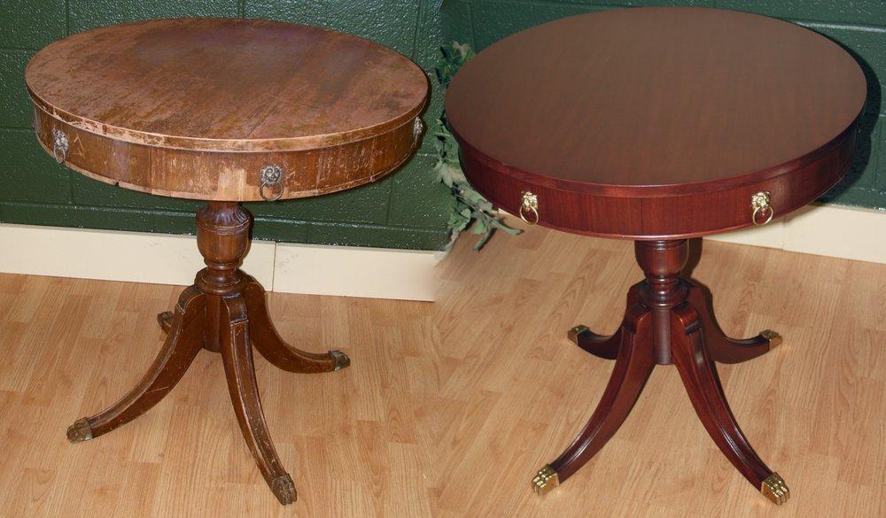 Old world refinishing restauro de m veis 32726 w 8 for Furniture 8 mile
