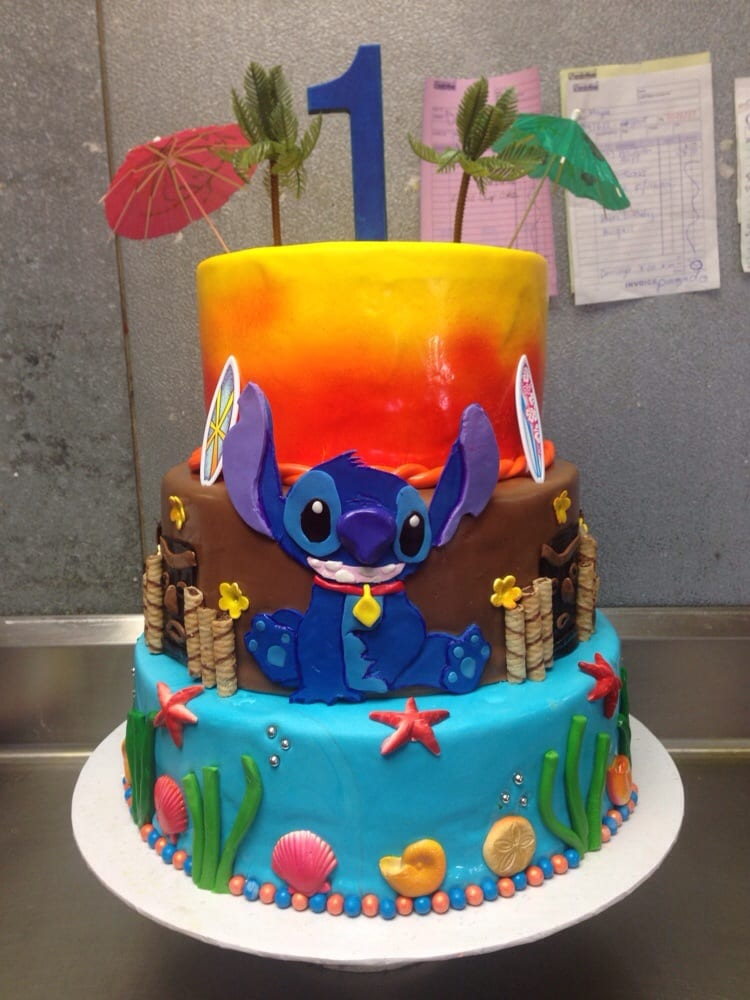 Lilo And Stitch 1st Birthday Cake Yelp
