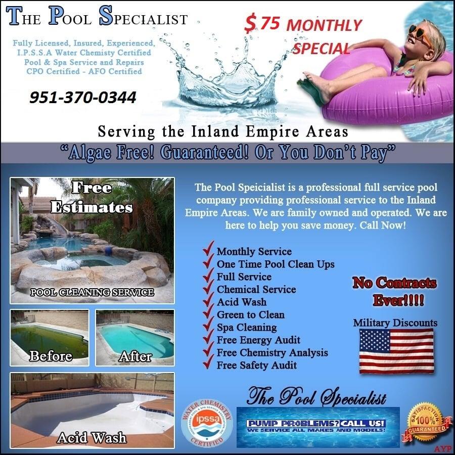 Pool Specialist Service Pool Cleaners Eastvale Ca Phone