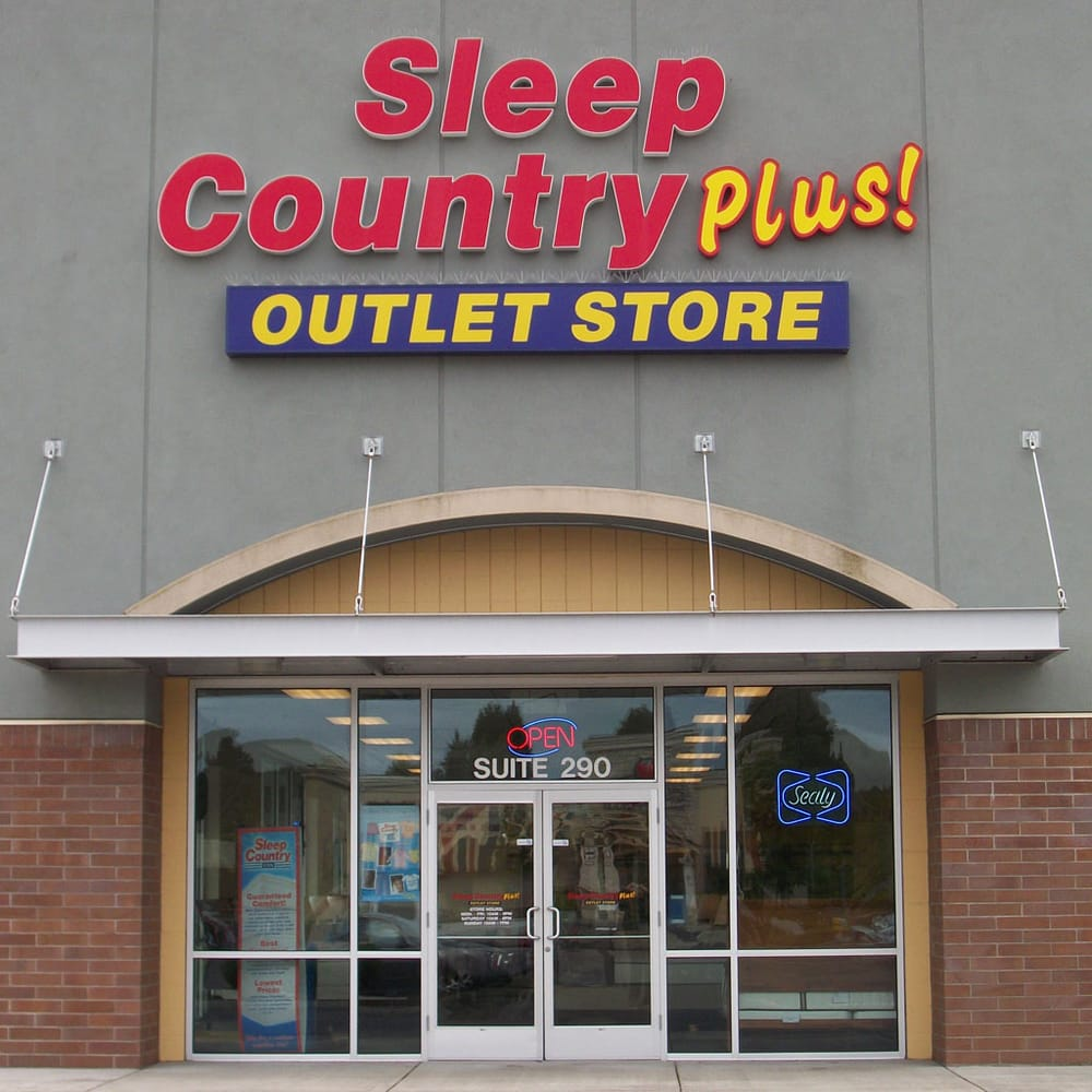 Sleep country plus outlet store closed furniture shops for Furniture mattress outlet longview