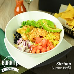 Photo Of Tequila Sunrise Fishers In United States Shrimp Burrito Bowl