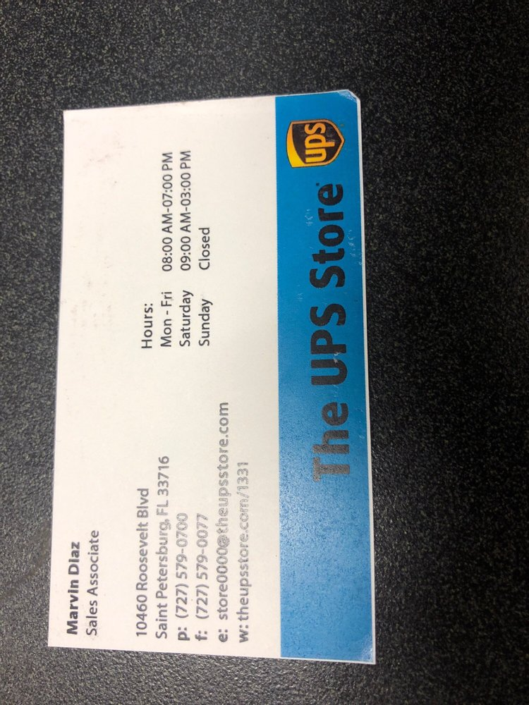 The UPS Store: 10460 Roosevelt Blvd, Saint Petersburg, FL