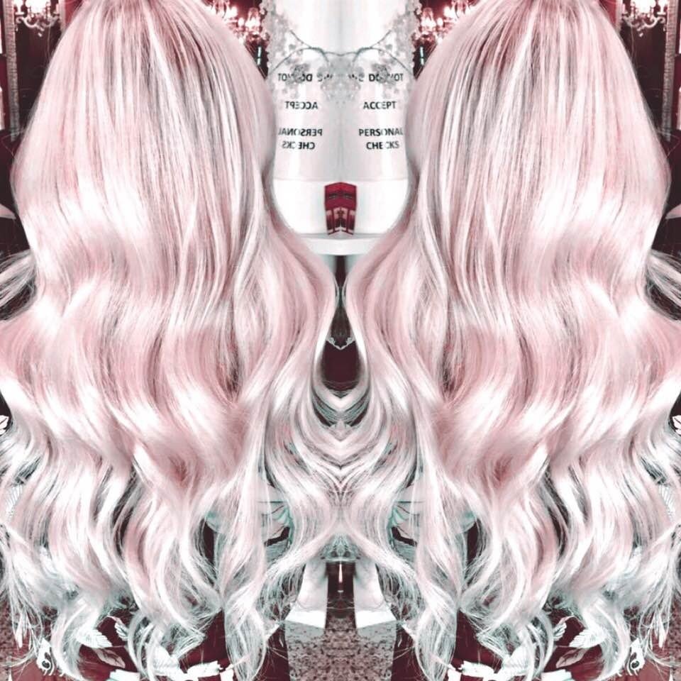 Whimsical Hair Color With Hair Extensions Pink Ice Yelp