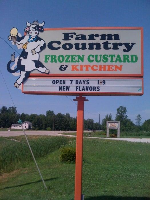Farm Country Frozen Custard & Kitchen: 2890 N Meridian Rd, Sanford, MI
