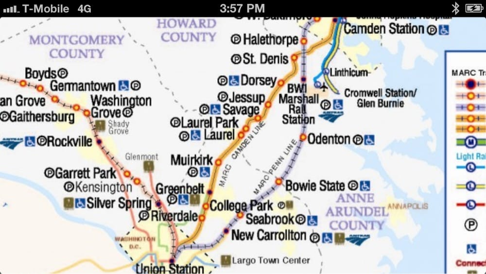 Marc Train Map MTA MARC Train system map   Yelp Marc Train Map
