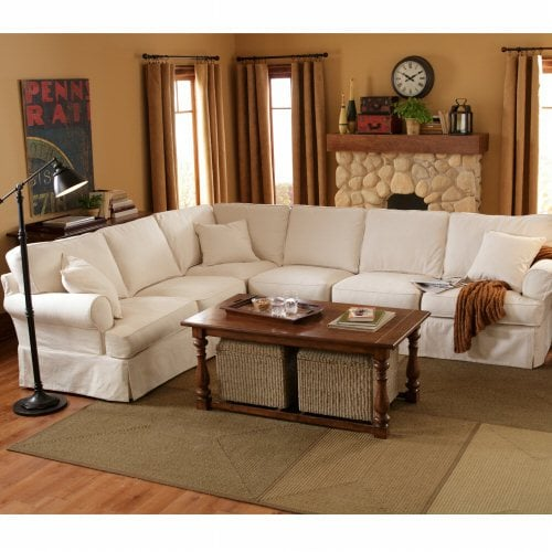 Comfy slip cover sectional sofa yelp
