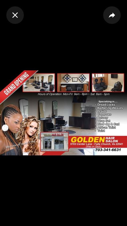 Golden Hair Salon: 5703 Center Ln, Bailey's Crossroads, VA