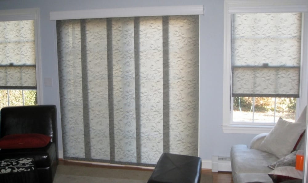 panel track window blinds Panel Track and Roller Shades. There are lots of fabrics to choose  panel track window blinds