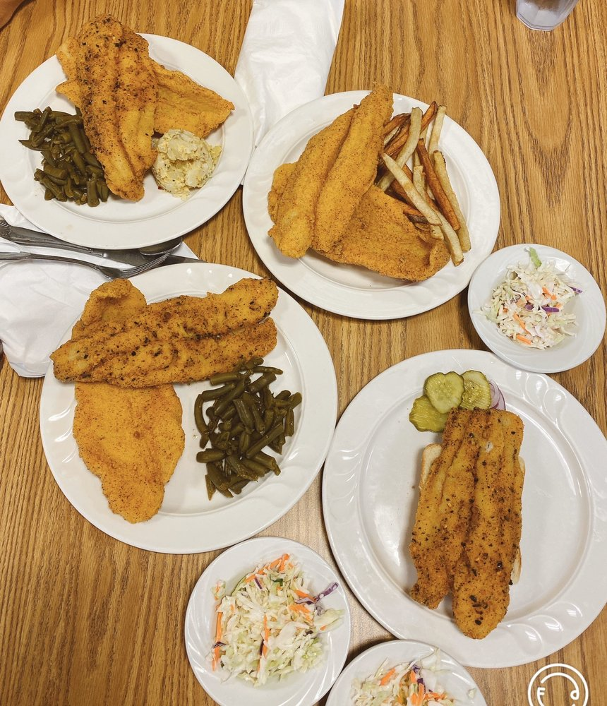 Food from Dr Phil's Catfish & Ribs