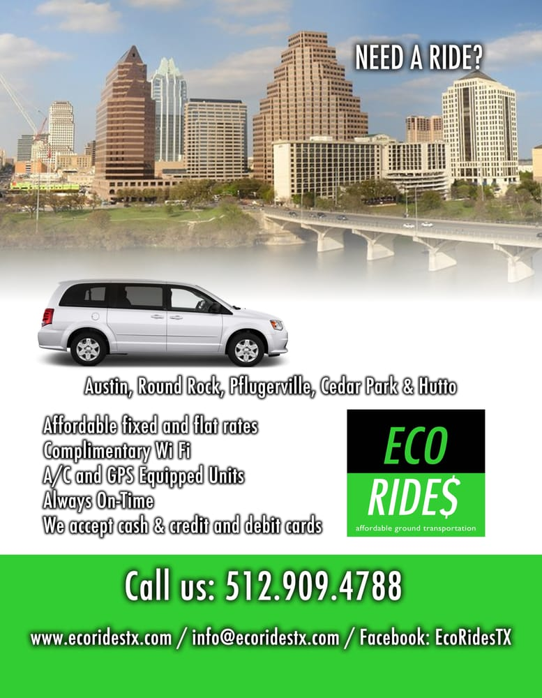 eco rides taxi 1000 heritage ctr cir round rock tx. Black Bedroom Furniture Sets. Home Design Ideas