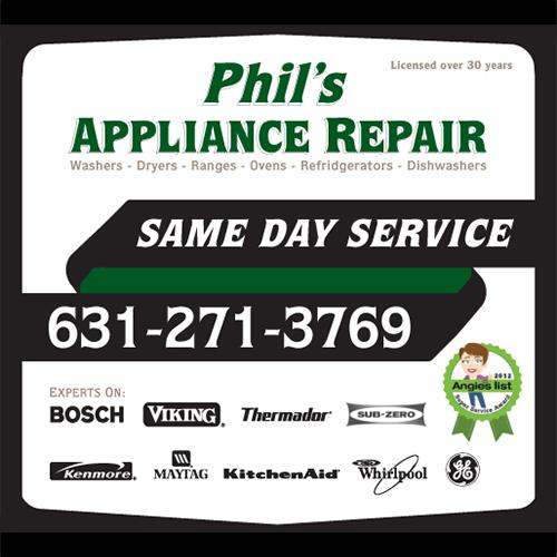 Phil's Appliance Repair: Huntington, NY