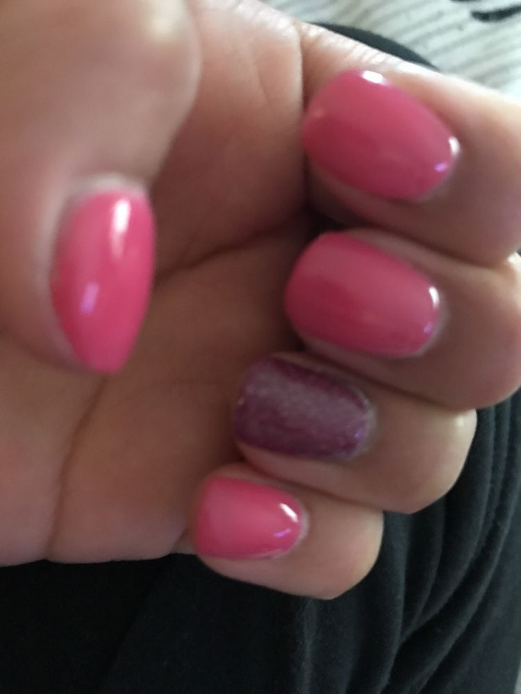 One week old sns nails - Yelp