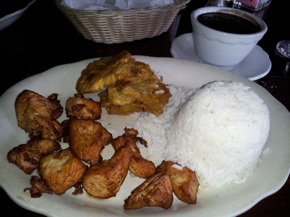 Arroz Blanco, Abichuelas (frijoles) Negro, Chicharon De