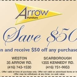 Photo Of Arrow Furniture   Brampton, ON, Canada. Coupon Print It