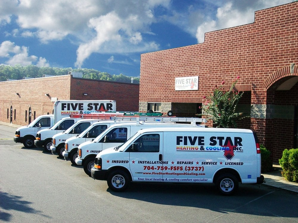 Five Star Heating and Cooling: 4824 Unionville-Indian Trail Rd W, Indian Trail, NC