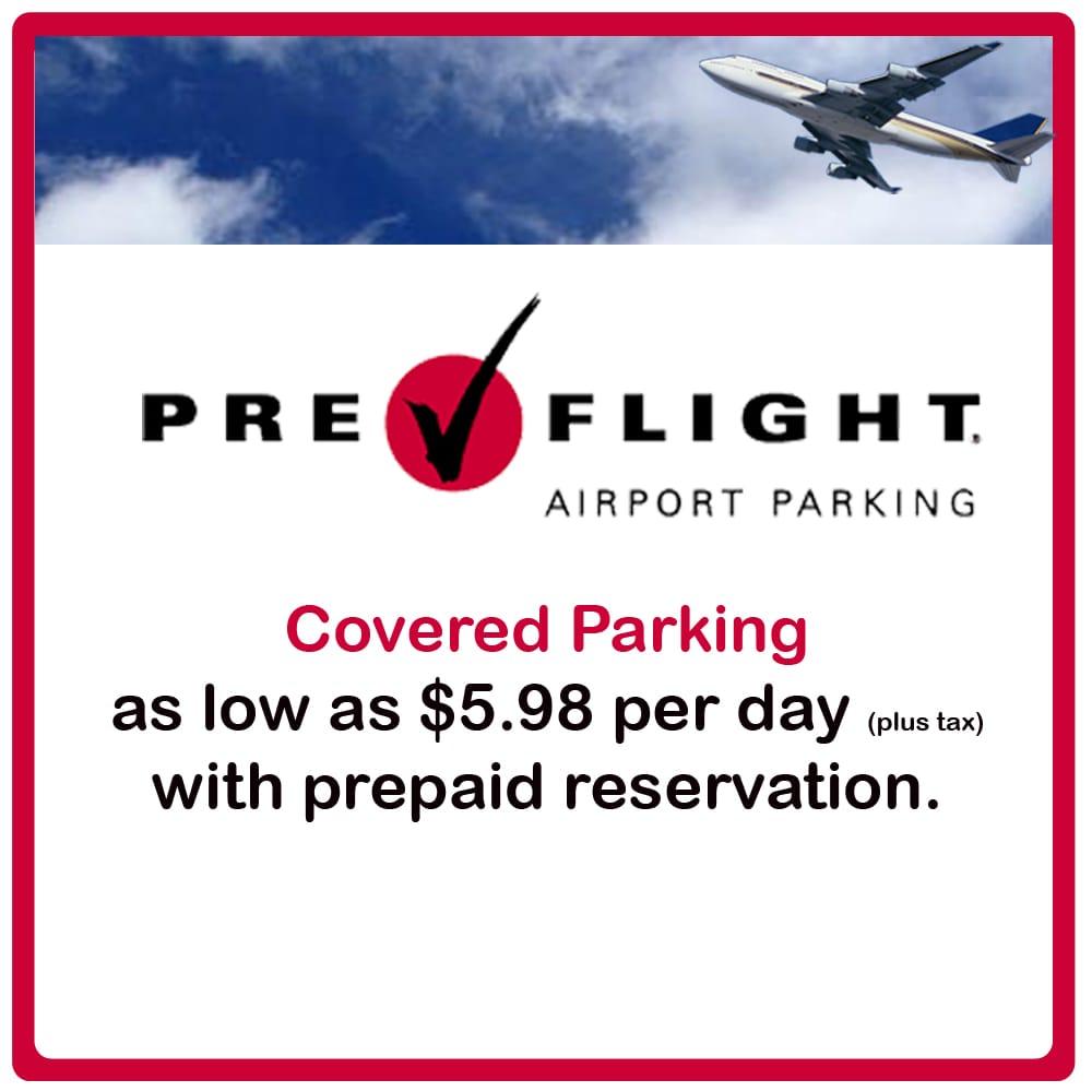 PreFlight Airport Parking: 3100 Greens Road, Houston, TX