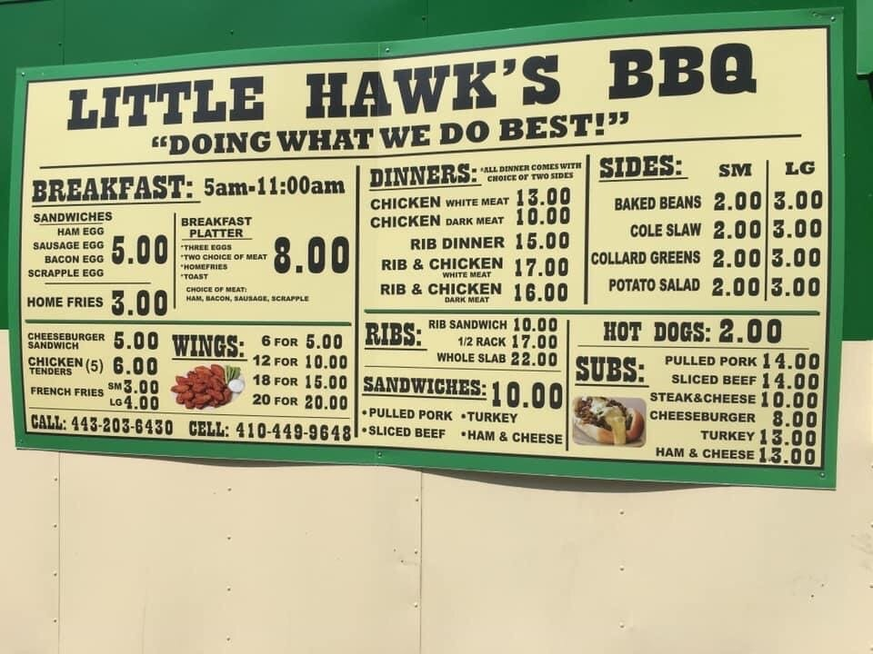 Little Hawk's Bbq: 2975 Chesapeake Bch Rd W, Dunkirk, MD