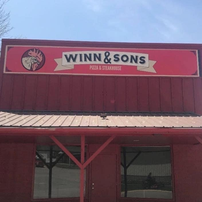 Winn & Sons Pizza and Steakhouse: 102 S Central Ave, Lacona, IA