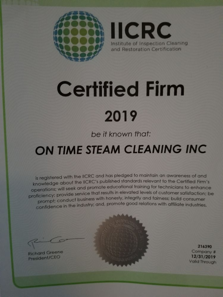 OnTime Steam Cleaning