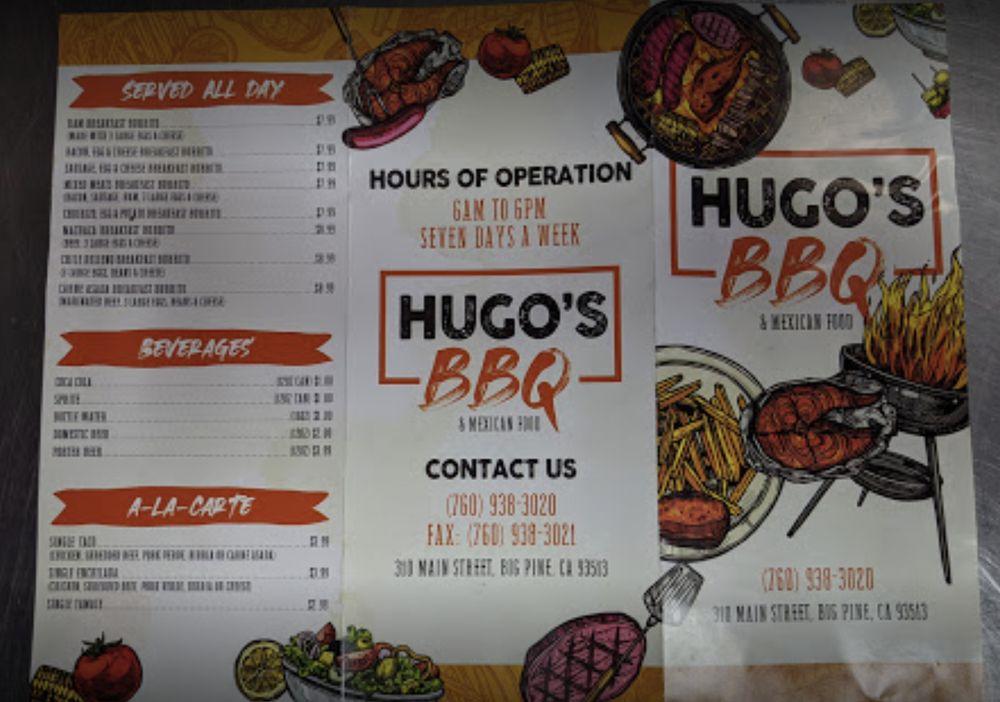 Hugo's BBQ & Mexican: 310 N Main St, Bishop, CA