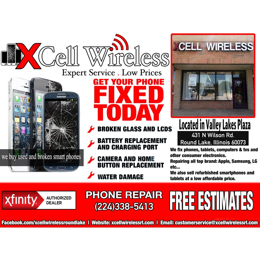 XCell Wireless: 431 N Wilson Rd, Round Lake, IL