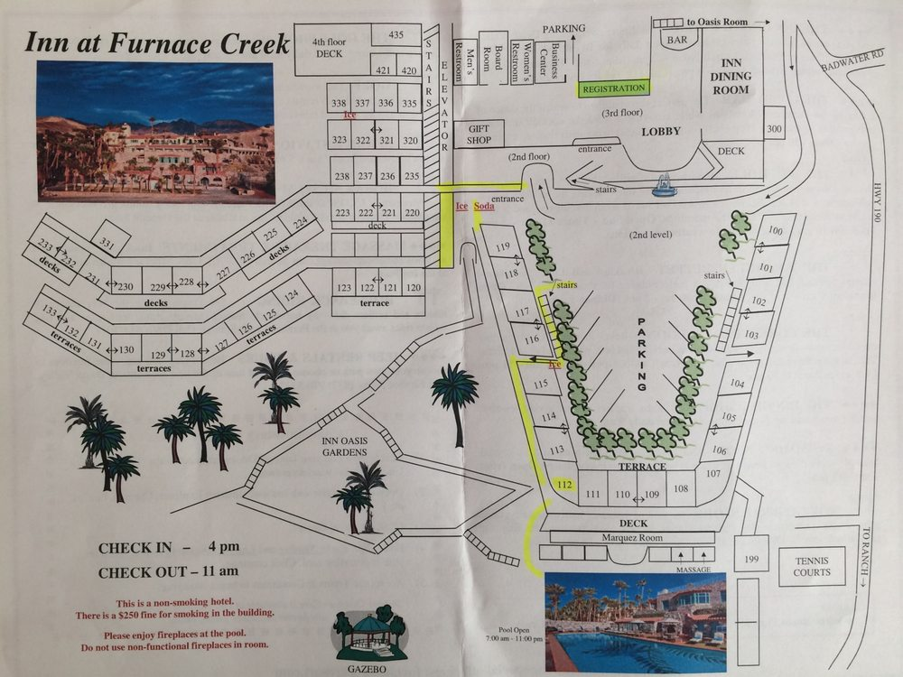 Room Map Of Inn At Furnace Creek Yelp
