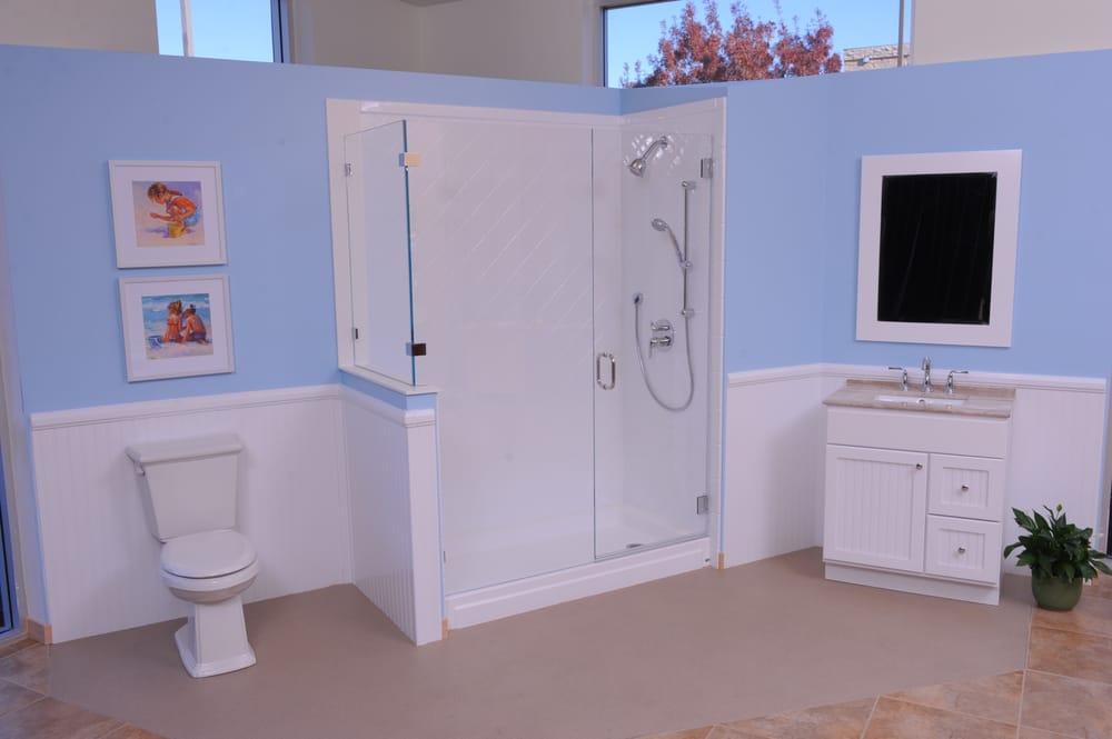 A Custom Shower Door Completes The Look Of This Bathroom Yelp