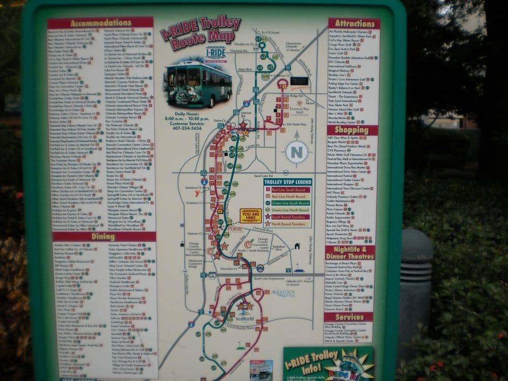 map - Yelp I Trolley Map Orlando on disney map, orange county florida district map, i trolley orlando stops, san diego trolley stops map, i trolley universal studios orlando, international drive restaurant map, the plaza las vegas map,
