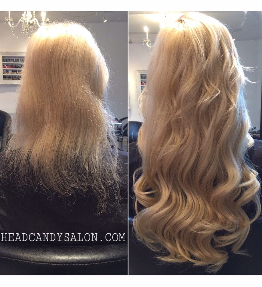 Before And After Full Head Of 175 Grams Of Fusion Hair Extensions