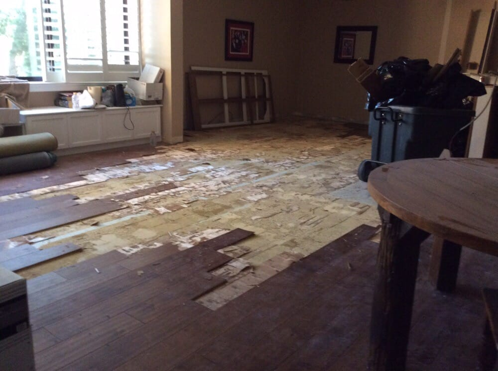 Ripping up newly laid wood floor because they laid floor for Wood floor outlet