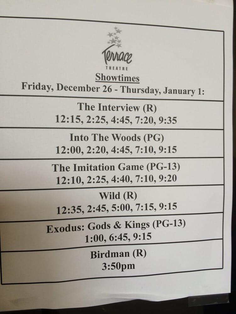 Movie schedule yelp for Terraces cinema schedule