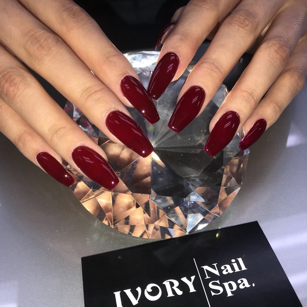Photo Of Ivory Nail Spa Chino Ca United States Coffin Shape Red