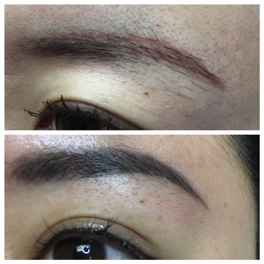 Before And After Healed Results Eyebrow Tattoo Makeup Yelp