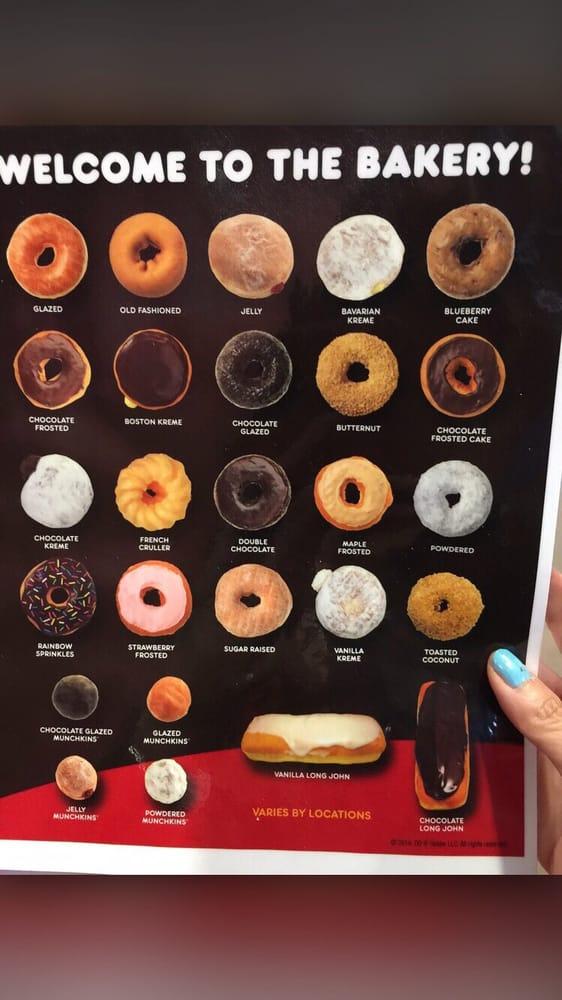 Dunkin donut menu - Yelp