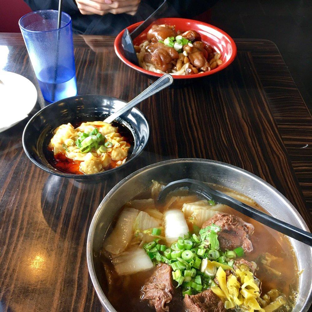 Beef Noodle Soup & Chili Oil Won Tons