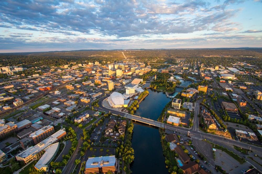 Aerial Photography Image Of Spokane Downtown Yelp