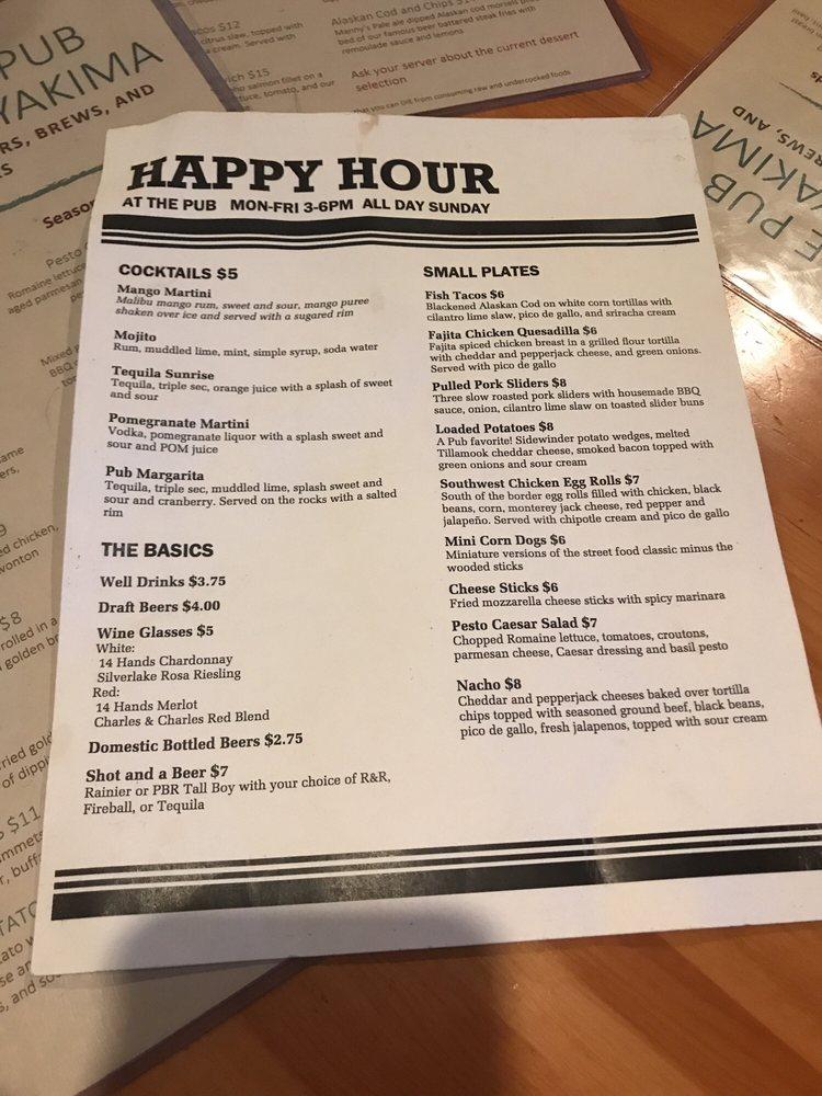 The Pub of Yakima: 5110 Tieton Dr, Yakima, WA