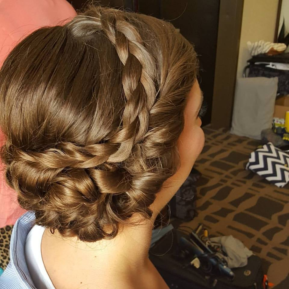 Wedding Hair Bridesmaid Hair On Site Hairstylist Updo Formal