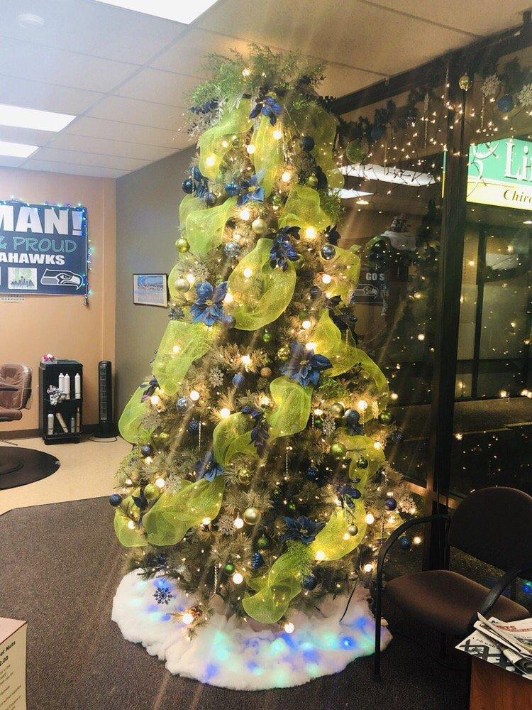 Seahawks Christmas Tree.The Seahawks Tree Ar Salon Celebrations Yelp