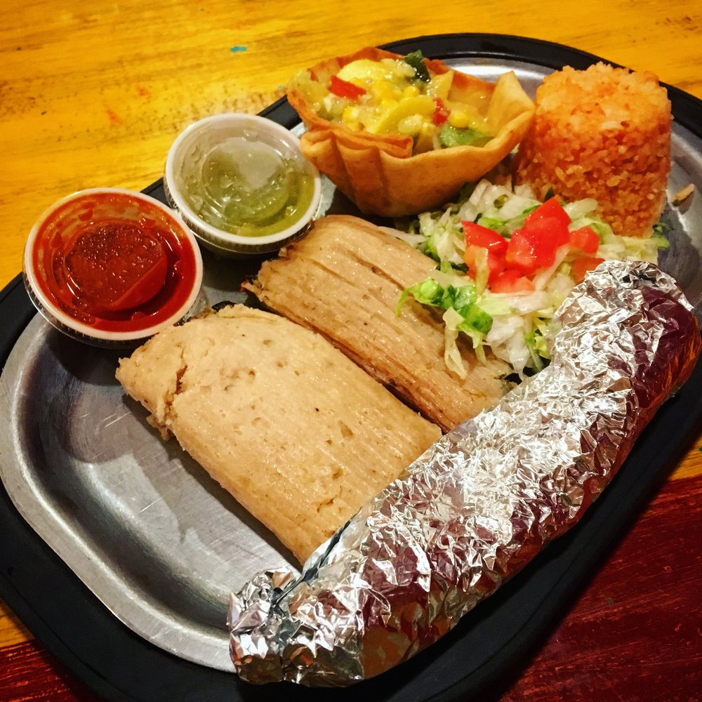 Food from Posa's Tamale Factory and Restaurant