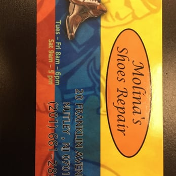Photo Of Molina S Shoe Repair Nutley Nj United States Business Card