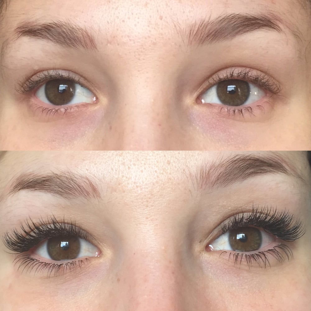 Completion On Top And Bottom Full Set Of Lash Extension Bottom