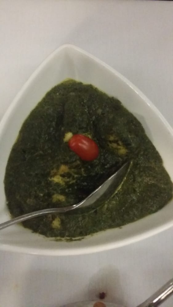 Saag paneer with a lost tomator o yelp for Amber indian cuisine