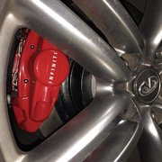 Enthusiast Auto Care - Concord, CA, United States. Installed brakes on one wheel. No loose lines, weird protruding screws, or other mishaps.