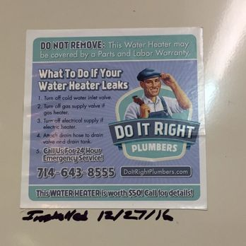 Photo Of Do It Right Plumbers Orange Ca United States