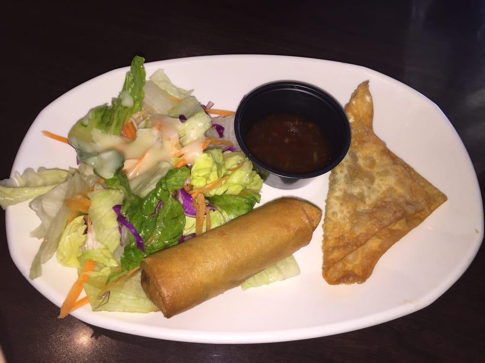 Lunch Menu Comes W Salad Wonton Eggroll Yelp