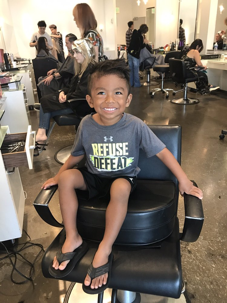 Perfect fade and such a handsome boy. Happy to sit in Uncle ...
